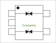 ESDALC14V2 pinout,Pin out