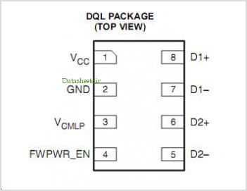 TPD4S1394 pinout,Pin out