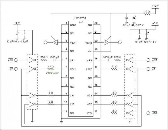 UPD3739 circuits