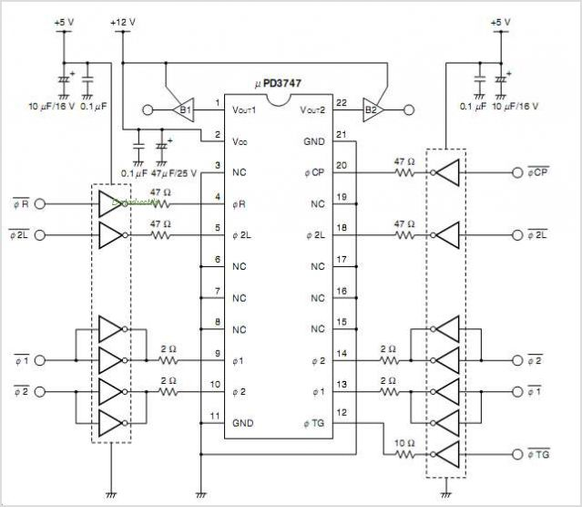 UPD3747 circuits