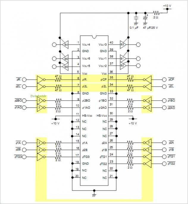 UPD8821 circuits