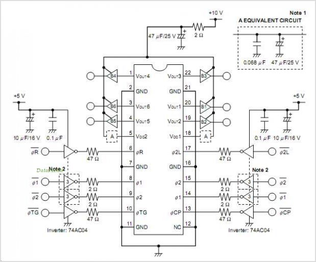 UPD8828A circuits