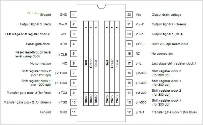 UPD8891 pinout,Pin out