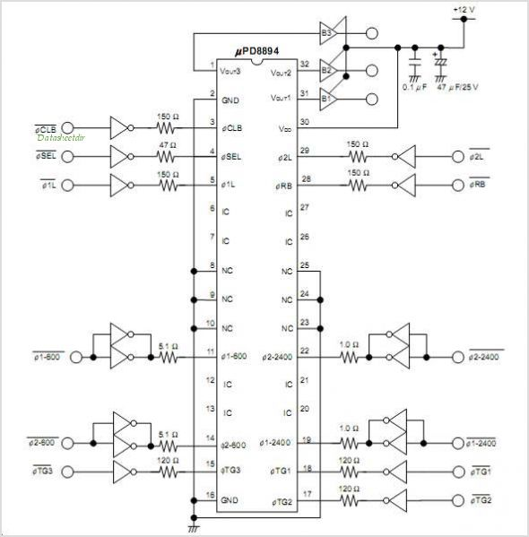 UPD8894 circuits