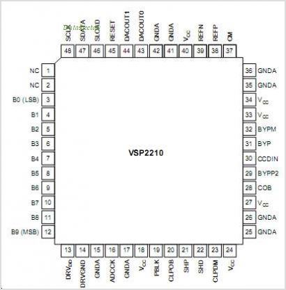 VSP2210 pinout,Pin out