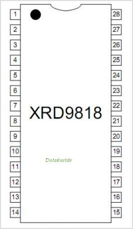 XRD9818 pinout,Pin out