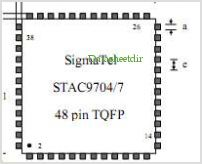 STAC9704 pinout,Pin out