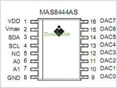 MAS8444A pinout,Pin out