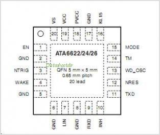 ATA6624 pinout,Pin out