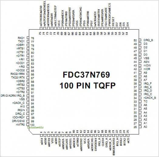 FDC37N769 pinout,Pin out