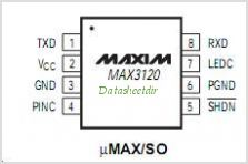 MAX3120 pinout,Pin out