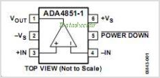 ADA4851-1 pinout,Pin out