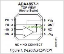 ADA4857 pinout,Pin out