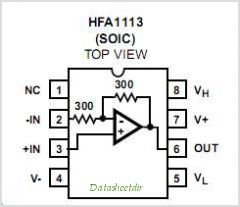 HFA1113 pinout,Pin out