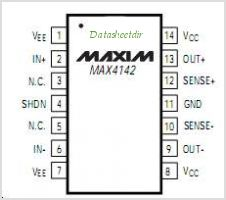 MAX4142 pinout,Pin out