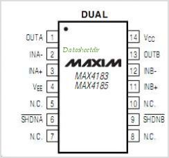 MAX4185 pinout,Pin out