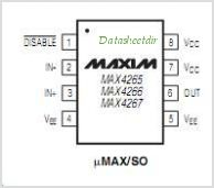 MAX4267EUA pinout,Pin out
