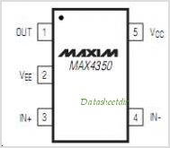 MAX4350EXK pinout,Pin out
