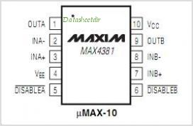 MAX4381 pinout,Pin out