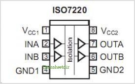 ISO7221C-Q1 pinout,Pin out