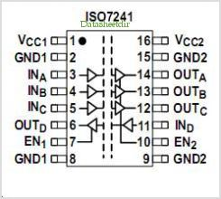 ISO7241 pinout,Pin out