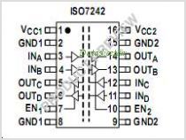 ISO7242M pinout,Pin out