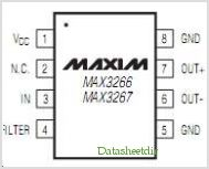 MAX3266 pinout,Pin out