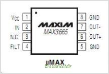 MAX3665 pinout,Pin out