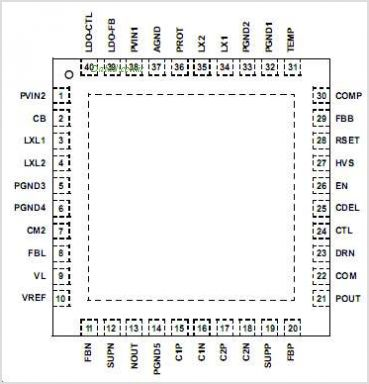 ISL97653AIRZ-T pinout,Pin out