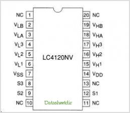 LC4120NV pinout,Pin out
