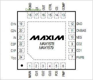 MAX1578 pinout,Pin out