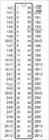 SN74CB3Q16211 pinout,Pin out
