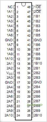 SN74CB3T16210 pinout,Pin out
