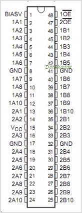 SN74CBT16800 pinout,Pin out