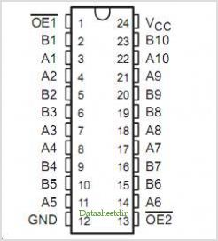 SN74CBT3384 pinout,Pin out