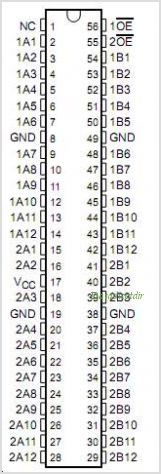 SN74CBTH16211 pinout,Pin out