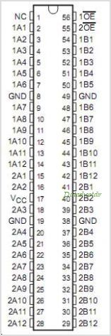 SN74CBTS16211 pinout,Pin out
