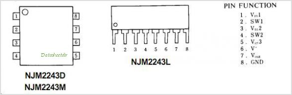NJM2243 pinout,Pin out