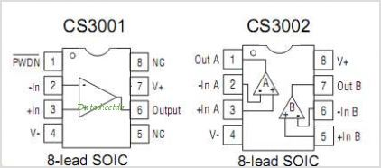 CS3001 pinout,Pin out