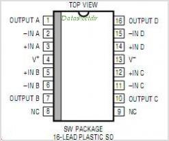 LT1014ISW-TRPBF pinout,Pin out