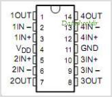 TLC1079CDRG4 pinout,Pin out