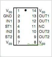 BTS5210G pinout,Pin out