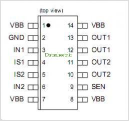 BTS5230GS pinout,Pin out
