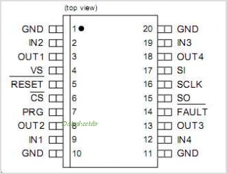 TLE8104E pinout,Pin out