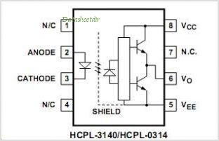 HCPL-0314 pinout,Pin out