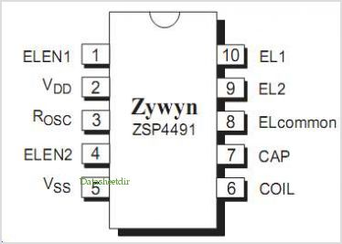 ZSP4491 pinout,Pin out