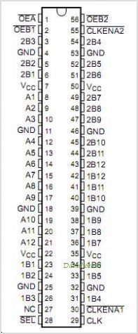 SN74AVC16269 pinout,Pin out