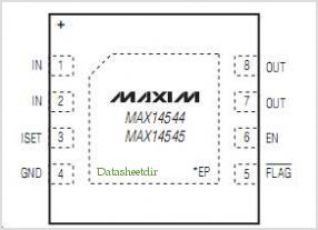 MAX14544 pinout,Pin out
