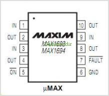 MAX1693 pinout,Pin out