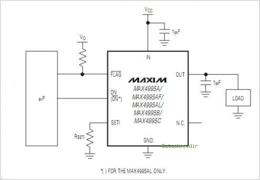 MAX4995A circuits